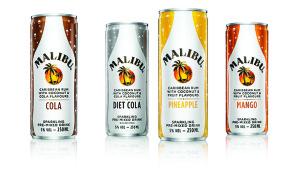 Malibu Pre-Mixed Cans