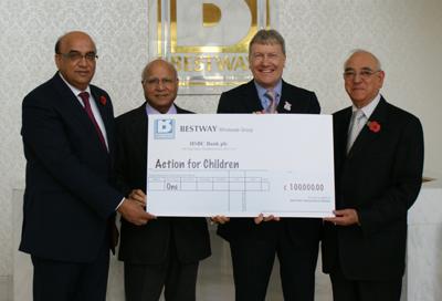 Bestway donates £100,000 to children's charity