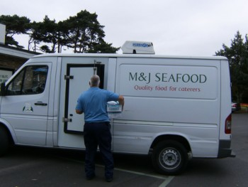 M&J Seafood van